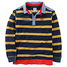 Buy Crew Clothing Boys' Owen Stripe Rugby Top, Navy/Yellow Online at johnlewis.com