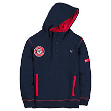Buy Crew Clothing Boys' Blake Hoodie, Navy Online at johnlewis.com