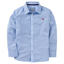 Buy Crew Clothing Boys' Nickie Stripe Shirt, Blue Online at johnlewis.com