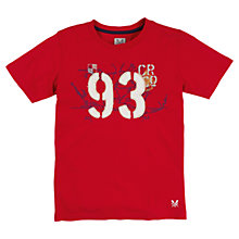 Buy Crew Clothing Boys' Robbie Short Sleeve T-Shirt, Red Online at johnlewis.com