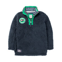 Buy Crew Clothing Boys' Rowan Bonded Fleece, Navy Online at johnlewis.com