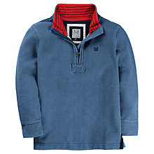 Buy Crew Clothing Boys' Ellis Garment Sweat Top, Light Blue Online at johnlewis.com