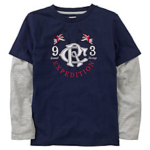 Buy Crew Clothing Boys' Alexandra Tee, Navy/Grey Online at johnlewis.com