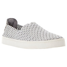 Buy Steve Madden Exx Woven Trainers, Silver Online at johnlewis.com