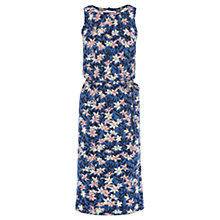 Buy Oasis Lilly Blues Print Midi Dress, Multi Online at johnlewis.com