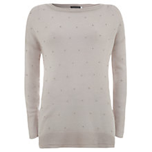 Buy Mint Velvet Seed Bead Knitted Jumper, Lilac Online at johnlewis.com