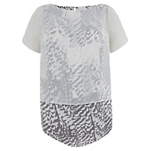 Buy Mint Velvet Tansy Layered T-Shirt, Multi Online at johnlewis.com