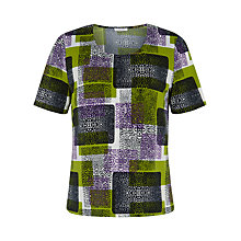 Buy Windsmoor Formosa Print Top, Green/Multi Online at johnlewis.com