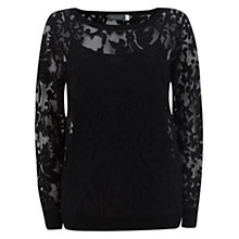 Buy Mint Velvet Lace Sweatshirt, Black Online at johnlewis.com