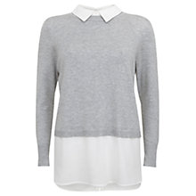 Buy Mint Velvet Crop Knit, Silver/Ivory Online at johnlewis.com