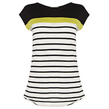 Buy Oasis Breton Stripe T-shirt, Multi Yellow Online at johnlewis.com
