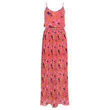 Buy Oasis Butterfly Side Split Maxi Dress, Multi/Orange Online at johnlewis.com