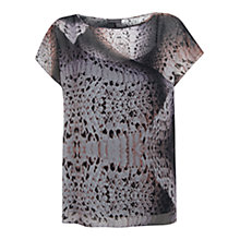 Buy Mint Velvet Erica Print Easy Tee, Multi Online at johnlewis.com