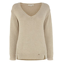 Buy Wishbone Liana Lurex V-Neck, Gold Online at johnlewis.com