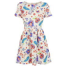 Buy Oasis Floral Print Texture Dress, Multi Online at johnlewis.com