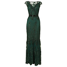 Buy Phase Eight Cindy Lace Full Length Dress, Forest Online at johnlewis.com