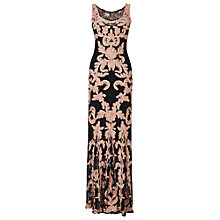 Buy Phase Eight Carolyn Tapework Full Length Dress, Black/Blush Online at johnlewis.com