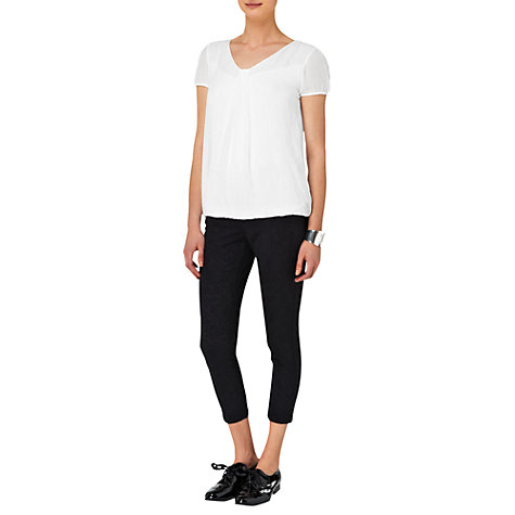 Buy Phase Eight Mila Silk Cap Sleeve Blouse, White Online at johnlewis.com