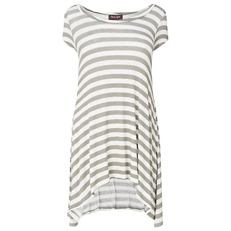 Buy Phase Eight Anita Stripe Top, Neutral/White Online at johnlewis.com