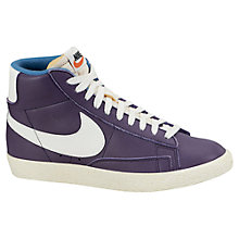 Buy Nike Blazer Mid Leather Vintage Women's Trainers, Purple Online at johnlewis.com