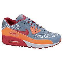 Buy Nike Women's Air Max 90 Trainers, Grey/Cerise Online at johnlewis.com