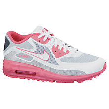 Buy Nike Women's Air Max Lunar90 Trainers, White/Pink Glow Online at johnlewis.com