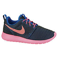 Buy Nike Women's Roshe Run Trainers, Black/Pink Online at johnlewis.com