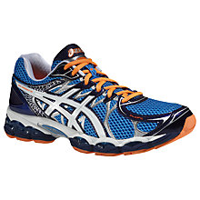 Buy Asis Gel Nimbus 16 Men's Running Shoes, Blue/White Online at johnlewis.com