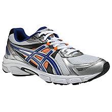 Buy Asics Gel-Galaxy Men's Running Shoes, White/Blue Online at johnlewis.com