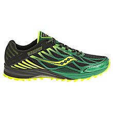 Buy Saucony Peregrine 4 Men's Trail Running Shoes, Black/Green Online at johnlewis.com