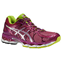 Buy Asics Gel Nimbus 16 Women's Running Shoes, Pink/Green Online at johnlewis.com