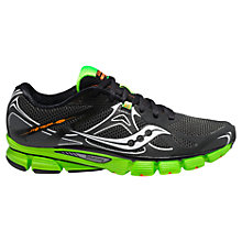 Buy Saucony Mirage 4 Men's Running Shoes, Black/Green Online at johnlewis.com