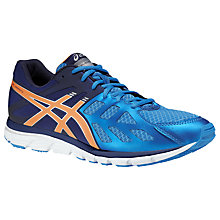 Buy Asics Gel Zaraca 3 Men's Running Shoes, Blue/Orange Online at johnlewis.com