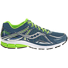 Buy Saucony Phoenix 7 Men's Running Shoes, Navy/Green Online at johnlewis.com