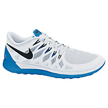 Buy Nike Women's Free 5.0 Running Shoes, White/Photo Blue Online at johnlewis.com