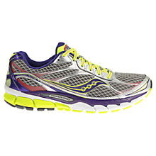 Buy Saucony Ride 7 Women's Running Shoes, Silver/Purple Online at johnlewis.com