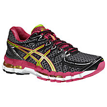 Buy Asics Gel-Kayano 20 Women's Trainers, Black/Green Online at johnlewis.com