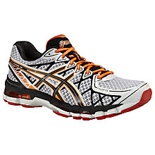 Buy Asics Gel-Kayano 20 Men's Running Shoes, White/Grey Online at johnlewis.com