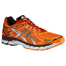 Buy Asics GT-2000 V2 Men's Running Shoes, Flash Orange/Silver/White Online at johnlewis.com
