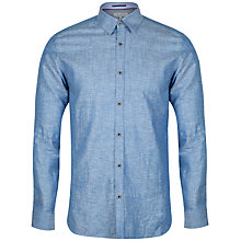 Buy Ted Baker Staver Long Sleeve Shirt, Blue Online at johnlewis.com
