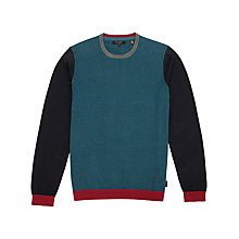 Buy Ted Baker Baseball Colour Blocked Jumper, Teal Online at johnlewis.com