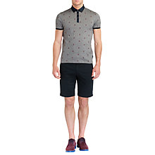 Buy Ted Baker Hurn Short Sleeve Polo Shirt, Navy Online at johnlewis.com