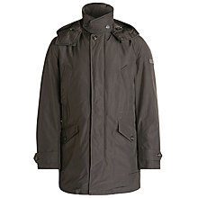 Buy Woolrich John Rich & Bros. Stream Hooded Coat, Grey Online at johnlewis.com
