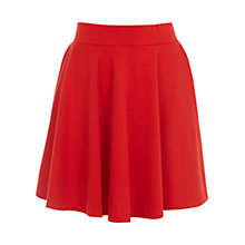 Buy Oasis Ponte Skater Skirt, Bright Orange Online at johnlewis.com