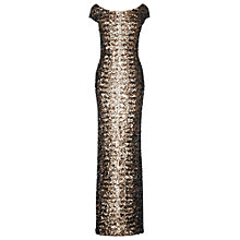 Buy Phase Eight Daria Embellished Full Length Dress, Black/Bronze Online at johnlewis.com