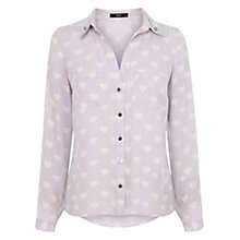 Buy Oasis Heart Print Shirt, Multi Online at johnlewis.com