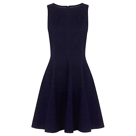 Buy Oasis Pippa Structured Denim Dress, Blue Online at johnlewis.com