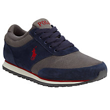 Buy Polo Ralph Lauren Ponteland Runner Trainers, Navy/Grey Online at johnlewis.com