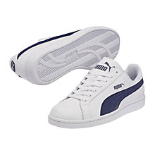 Buy Puma Smash Leather Trainers, White Online at johnlewis.com
