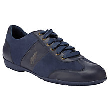 Buy Polo Ralph Lauren Lewes Leather Trainers Online at johnlewis.com